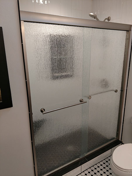 custom frosted glass shower door
